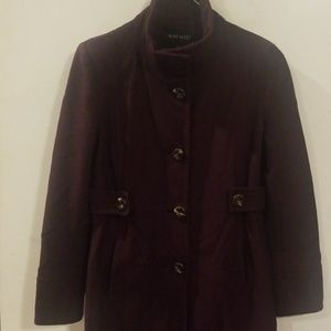 Nine West burgundy winter jecket